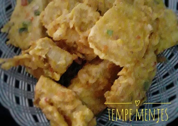 Cara Mudah mengolah Tempe menjes goreng tepung pedes