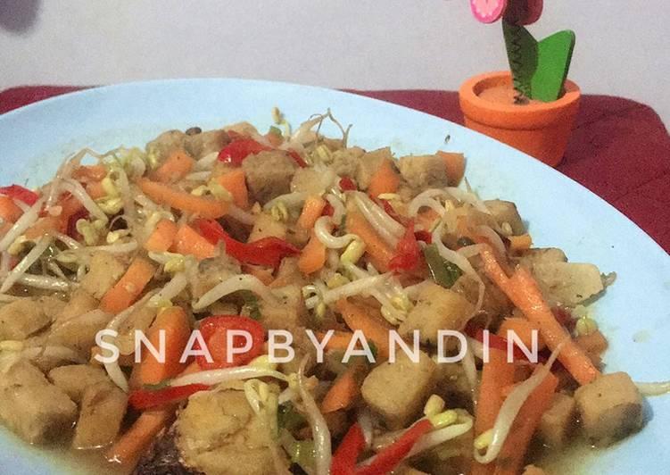 Resep: Tumis Tauge With Oncom (menjes) lezat
