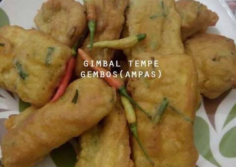 Resep: Gimbal tempe menjes(gembos)