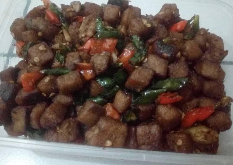 Cara memasak Tumis tempe menjes istimewa