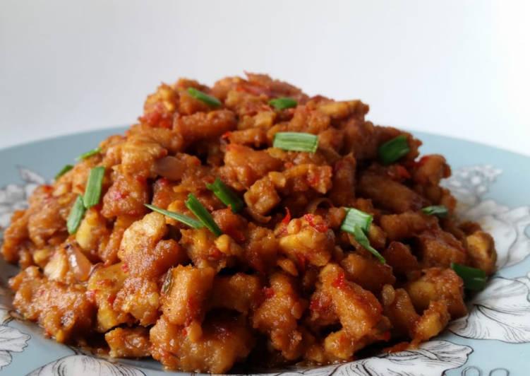 Resep memasak Olahan balado tempe dan menjes
