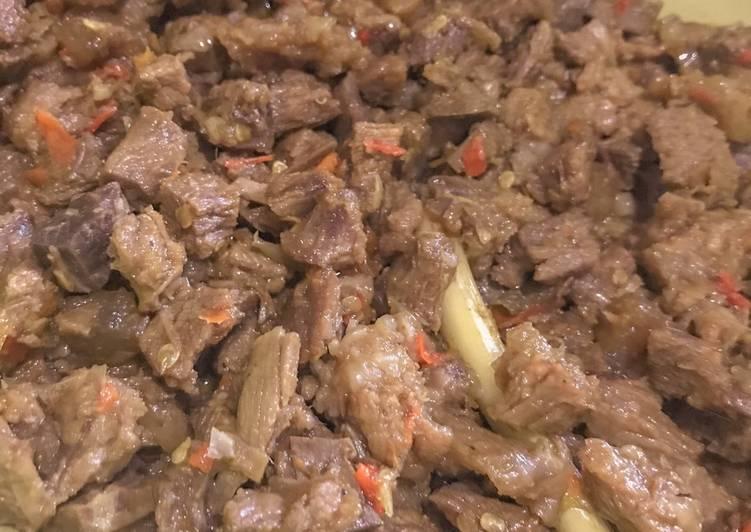 Cara memasak Oseng daging pedas