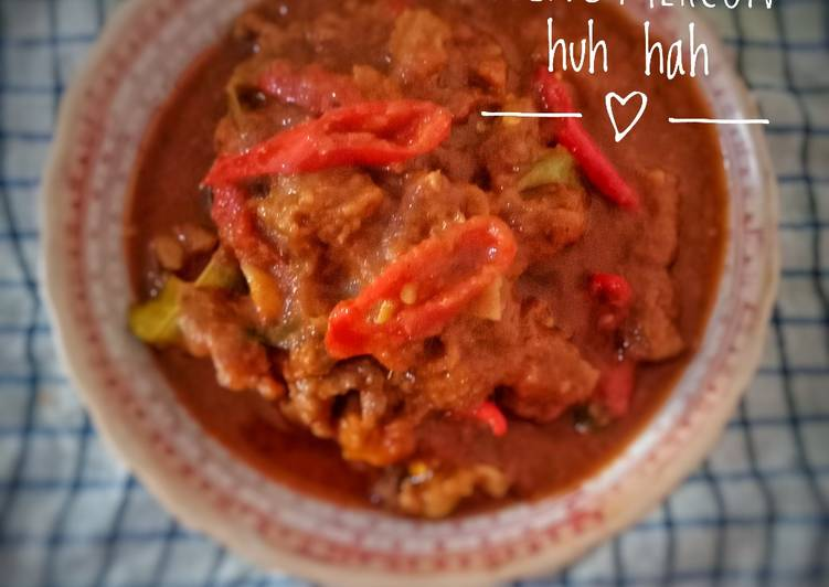 Cara membuat Oseng mercon pedas enak