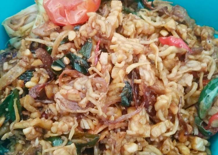 Cara memasak Oseng teri tempe