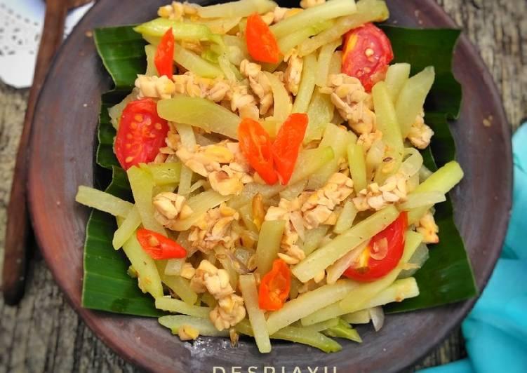 Resep memasak Oseng Waluh (Labu Siam) dan Tempe lezat