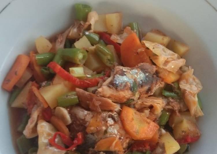 Cara mengolah Oseng sayuran whit sarden