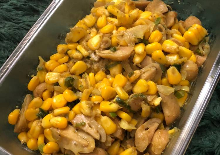Resep: Oseng jamur jagung bumbu kuning