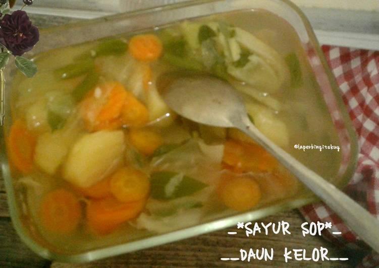 Resep memasak Sayur sop daun kelor enak