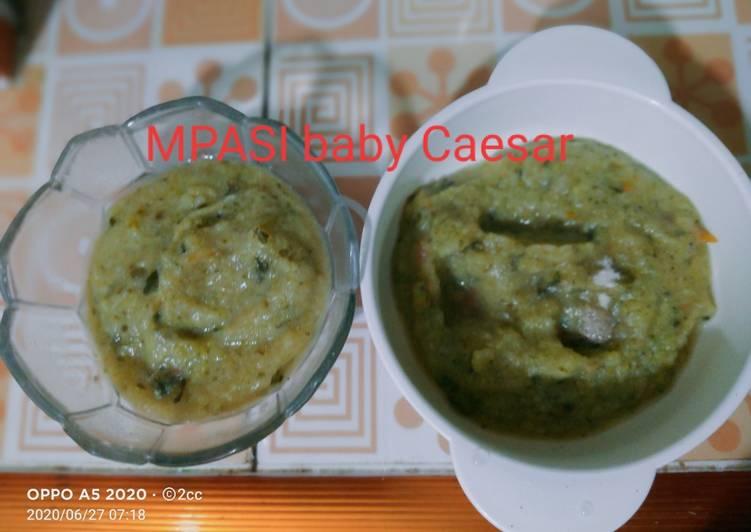 Resep membuat MPASI ikan pantin vs brokoli dan daun kelor istimewa