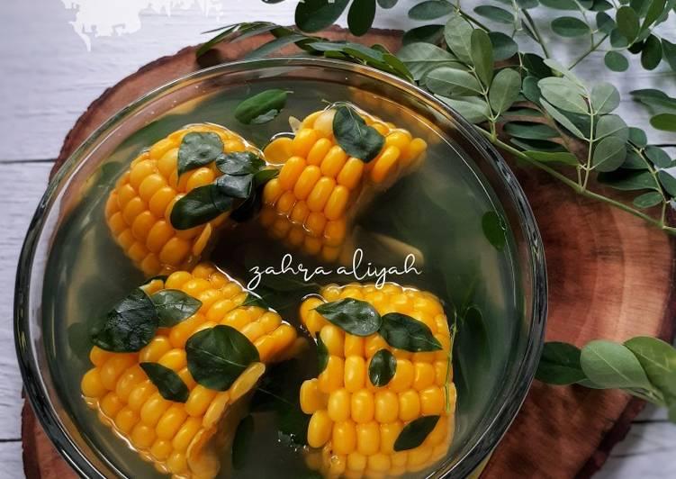 Resep: Sayur bening Jagung daun kelor