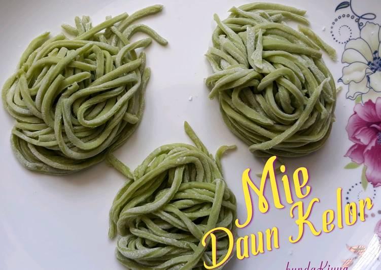 Resep mengolah Mie daun kelor - Mie homemade - Mie sehat istimewa
