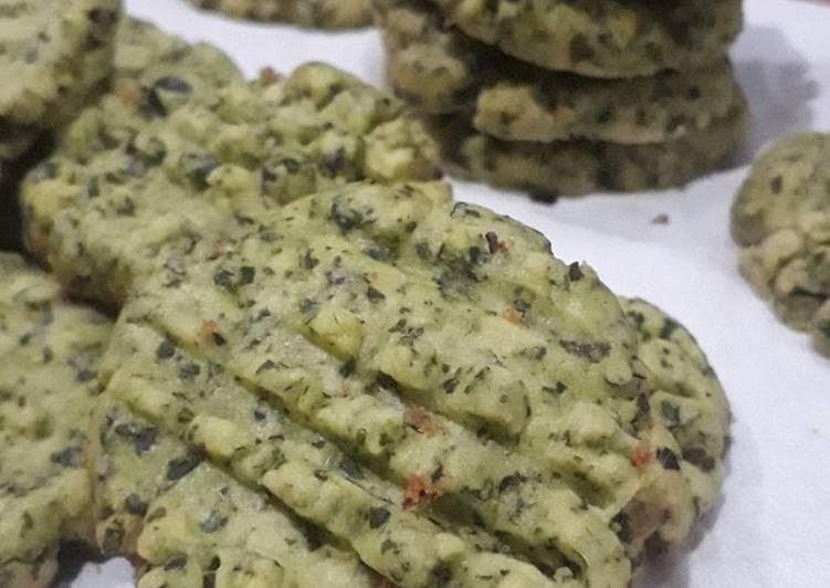 Resep: Cookies daun kelor (rebake resep mbak Wawa Wiati versi daun kelor)