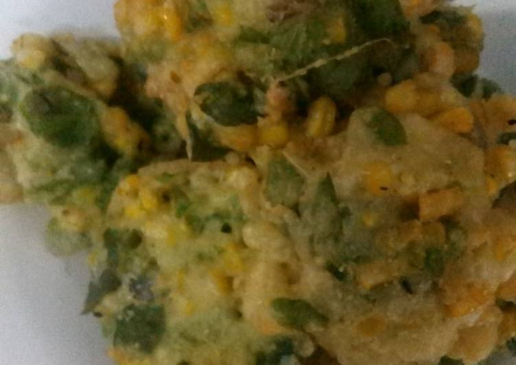 Resep: Bakwan jagung daun kelor enak