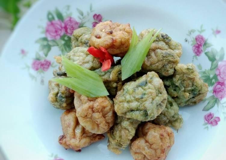 Resep: Bakso goreng ikan kakap+sayur kelor istimewa