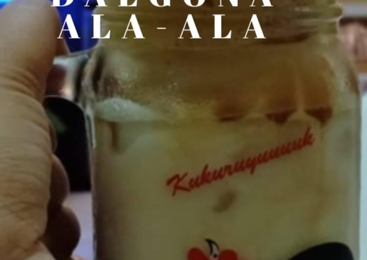 Cara Mudah mengolah Dalgona Coffee ala Mamak