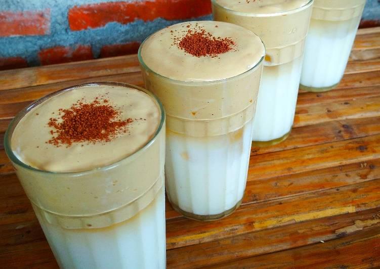 Resep memasak Cappucino Gooday Dalgona Ice (cuma pake SKM) lezat