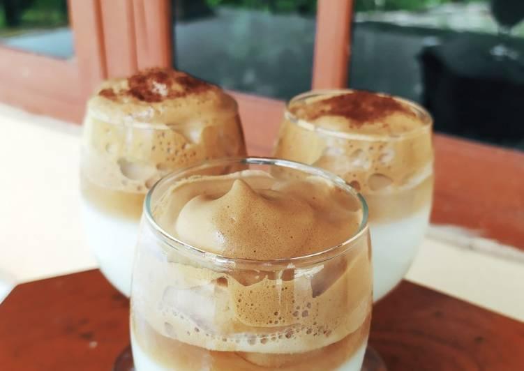 Cara Mudah mengolah Dalgona coffe tanpa mixer