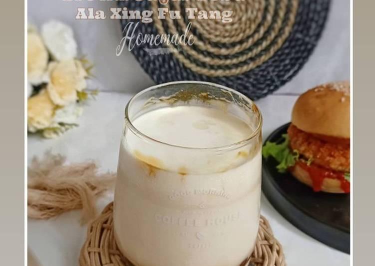 Cara Mudah membuat Brown sugar Boba ala Xıng Fu Tang|| Milk BOBA😋