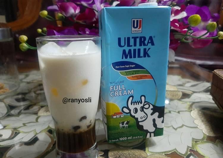 Resep: 3. Fresh milk brown sugar with boba