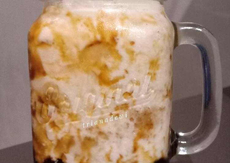 Brown sugar fresh milk with boba