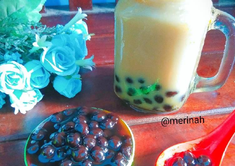 Cara Mudah memasak Boba milk tea brown sugar