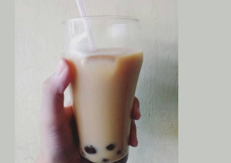 Cara Mudah mengolah Boba brown sugar milk tea