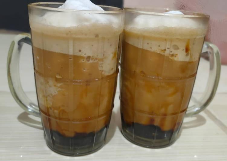 Cara membuat Boba drink latte enak