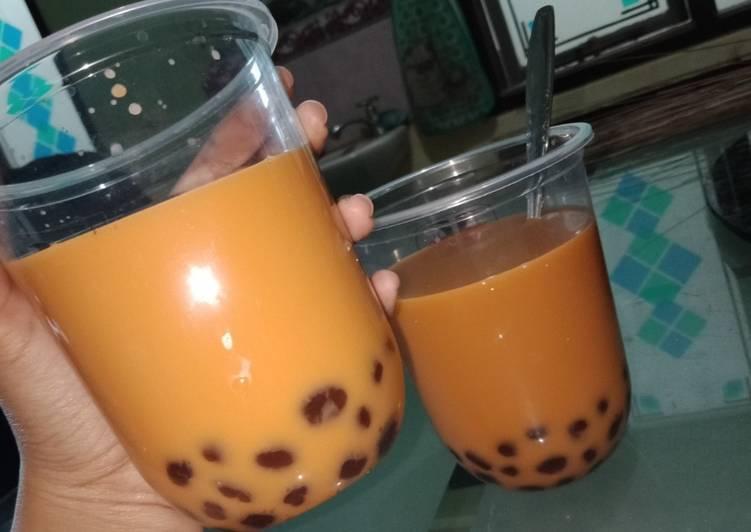 Resep: Thai tea with Boba enak