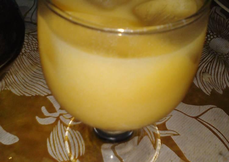 Resep: Thai tea melon ala-ala
