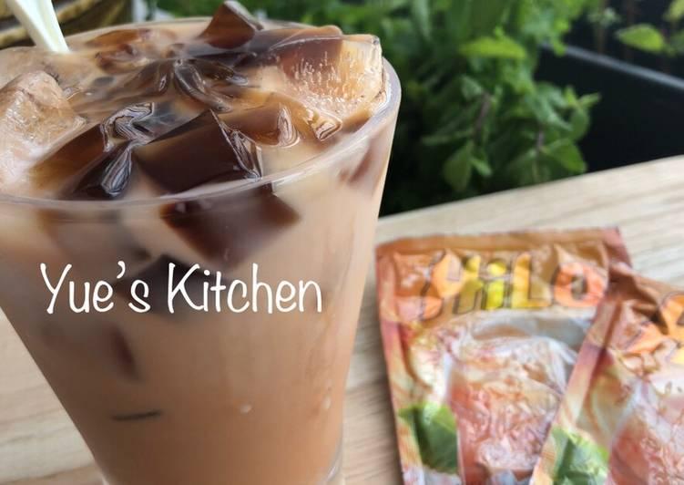 Resep: HiLo Thai Tea + Milk & GrassJelly istimewa
