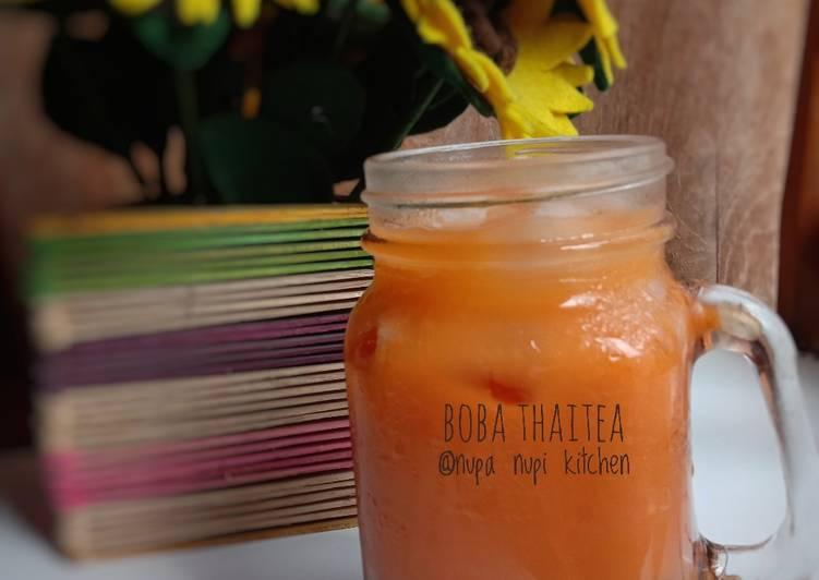 Cara membuat Boba thaitea #19