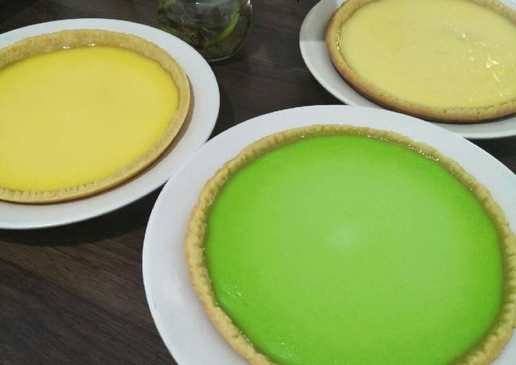 Cara mengolah Pie susu teflon