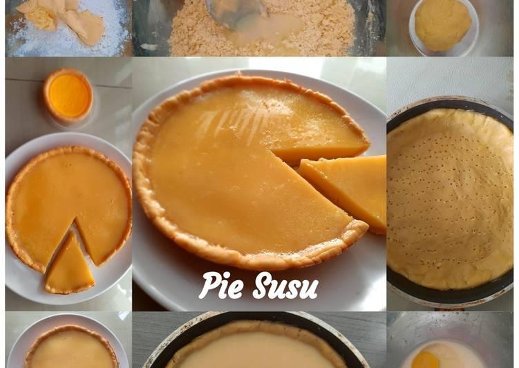 Cara memasak Pie susu teflon