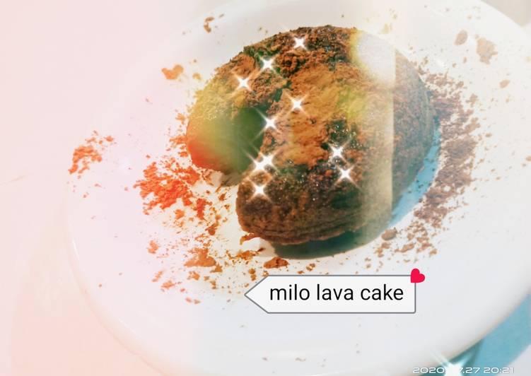 Resep: Milo lava cake istimewa
