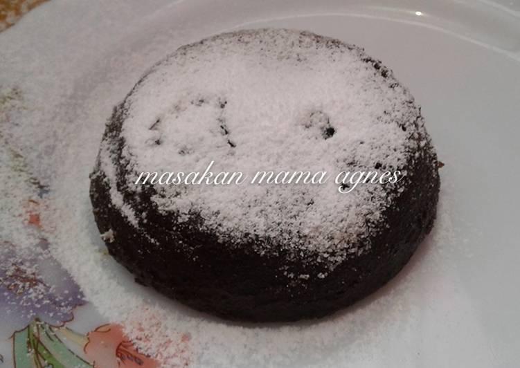 Cara Mudah mengolah Lava cake cocolatos