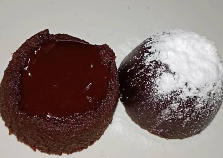 Resep: Choco Lava tanpa mixer tanpa oven