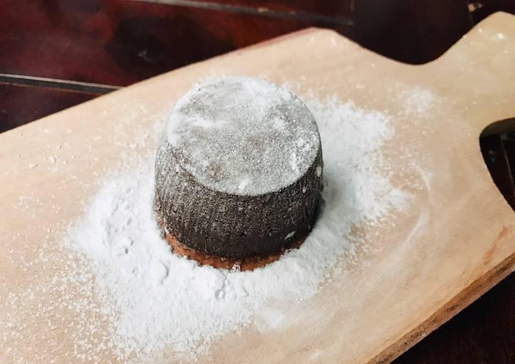 Resep mengolah Milo lava cake (no oven no mixer)