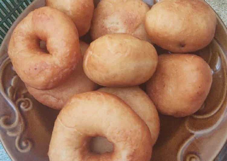 Cara membuat Donat enggak pakai kentang 🥔