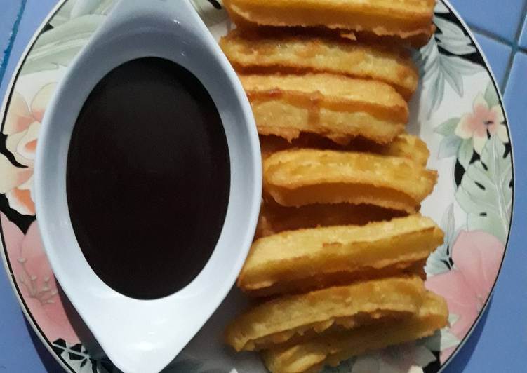 Resep: Churros kreatif dan ekonomis 😉 anti gagal !!!