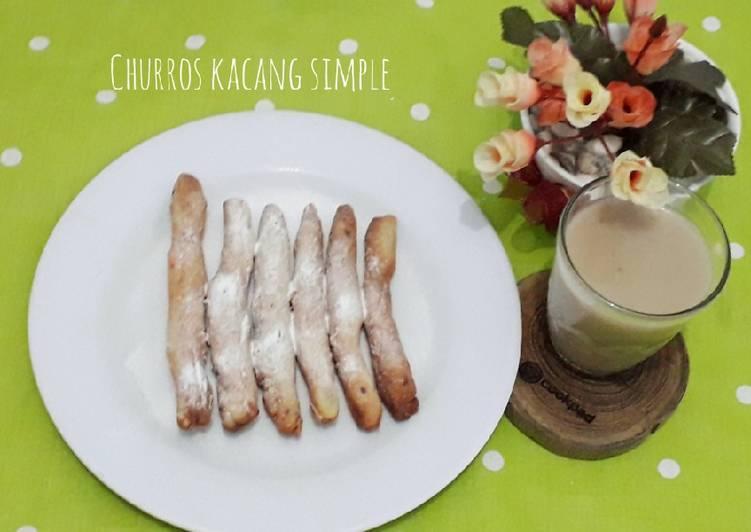 Cara membuat Churros kacang simpel