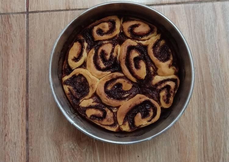 Resep memasak Cinnamon roll (tanpa mixer)