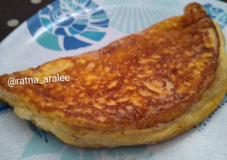 Cara Mudah membuat Fluffy omellete (telur membel) lezat