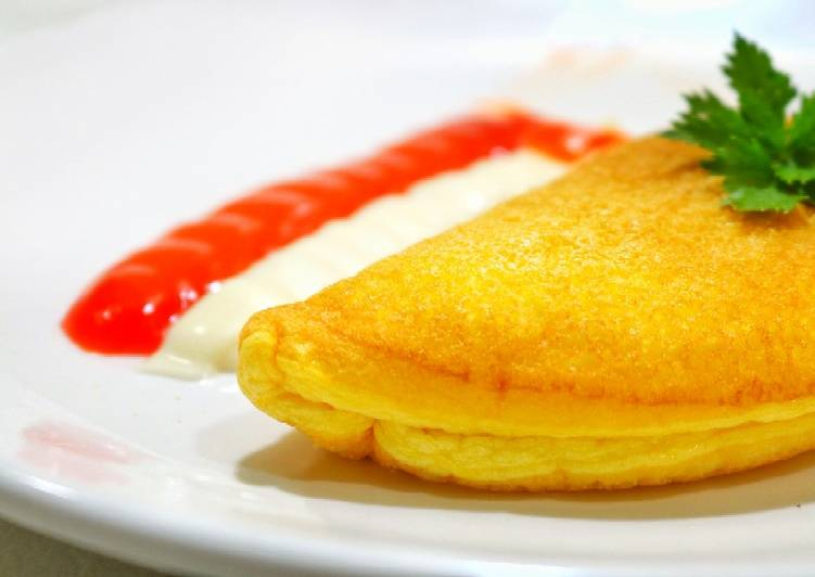 Cara Mudah mengolah Fluffy Omelette    Lembut banget