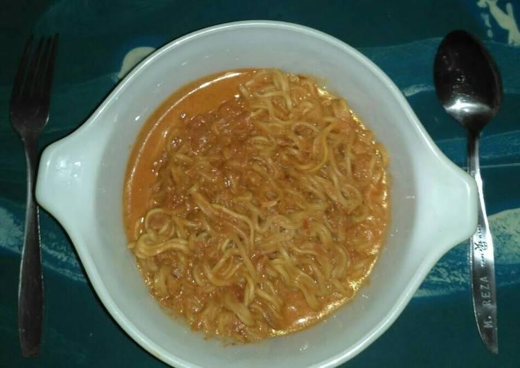 Resep: Mi Pedas ala Samyang dengan Kuah Susu enak