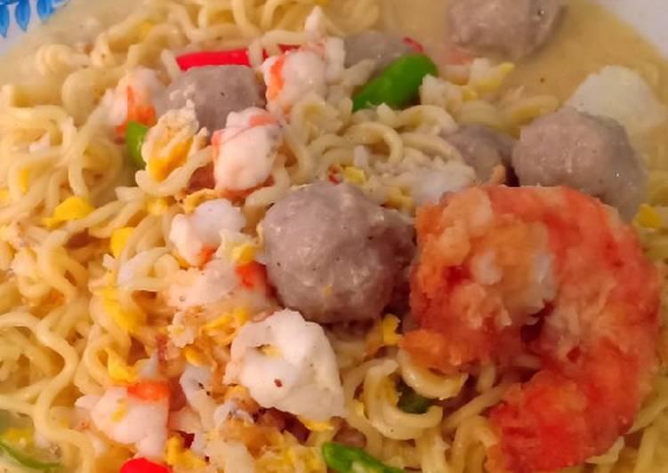 Cara Mudah memasak Indomie kuah udang super creamy lezat