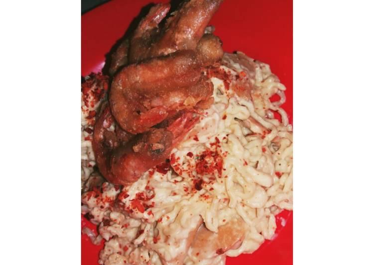 Resep: Indomie Soto Carbonara (mudah dan enak)