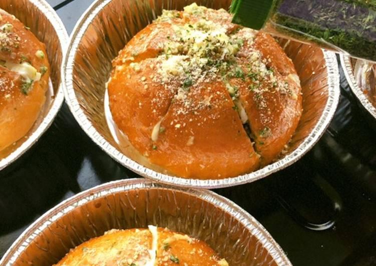 Cara Mudah memasak Korean cream cheese garlic bread enak