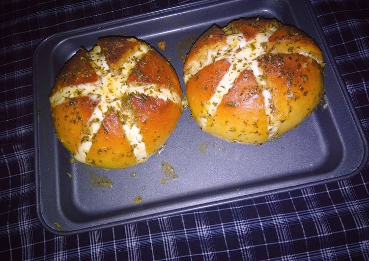 Cara mengolah Korean garlic cheese bread istimewa
