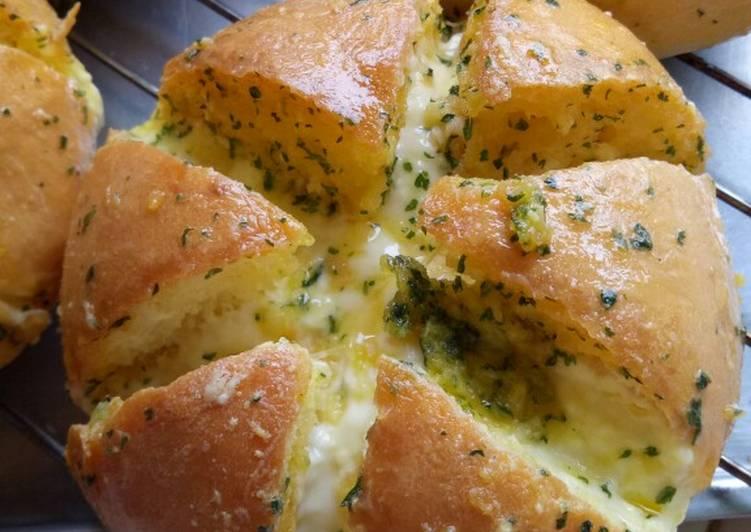 Cara membuat Korean garlic cheese bread