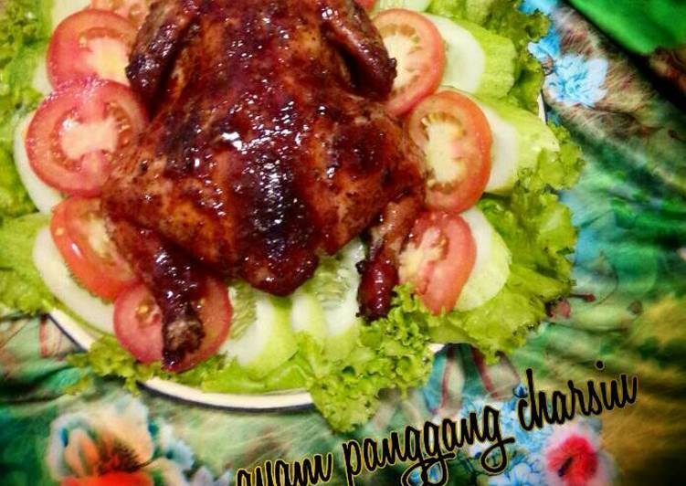 Cara Mudah mengolah Ayam panggang charsiu